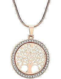 e06eaa2cec78 Amazon.es  Oro rosa - Collares   Mujer  Joyería