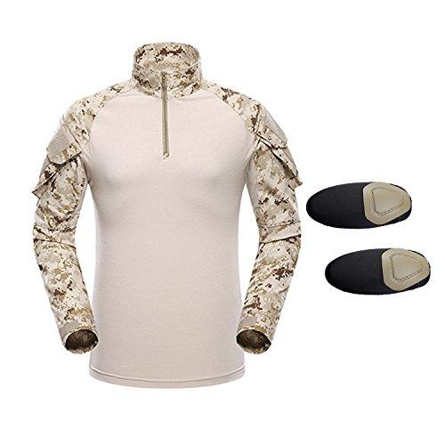 Qmfive maglietta tattica, maglietta da uomo camouflage camo combat a maniche lunghe per tactical airsoft paintbal