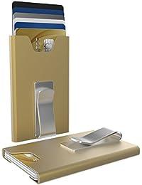 Olas y dinero Clip Wallet Tarjeta Cartera RFID