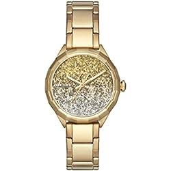 Diesel Kween B - Reloj análogico de cuarzo con correa de acero inoxidable para mujer, color oro