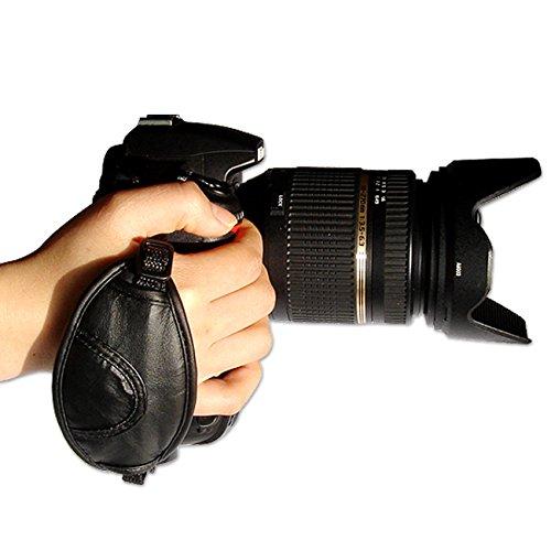 first2savvv OSH0201 nuovo in pelle fotocamera reflex digitale Hand Strap per Nikon D7000 D90 D5100 D5000 D3100 D3000 D700 D300s D3X D3S D800 D800E D3200 D4 D600 D5200 COOLPIX P7100 P510 L310 L810 P520 L820 Film SLR Camera F6 D7100 L320 Panasonic Lumix DMC-GH2 DMC-FZ48 DMC-FZ100 DMC-FZ150 DMC-G2 DMC-G5 DMC-G3TWIN DMC-LZ30 DMC-GH3 DMC-LZ20 MC-FZ200 DMC-FZ62 DMC-FZ45 DMC-GH3 DMC-LZ30 D DMC-GH2 DMC-G6 DMC-FZ72 Samsung NX11 NX20 Galaxy NX 20.3MP Digital Camera EK-GN120 Leica v-lux3