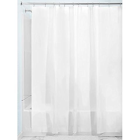 InterDesign 12054EU - Revestimiento para cortina de ducha de PEVA anti-hongo espesor 3, 183 x 183 cm, color blanco