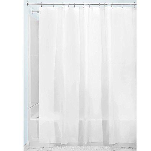 InterDesign 3.0 Liner Futter für Duschvorhang, 183,0 cm x 183,0 cm großer Vorhang aus schimmelresistentem PEVA mit zwölf Ösen, weiß