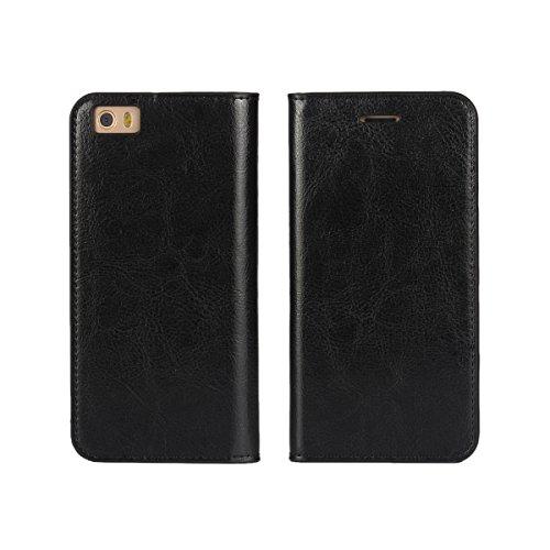 TOTOOSE Custodia H7 Xiaomi Mi 5, Luxury PU Custodia in Pelle Flip Custodia Protettiva Accessori Cover con Slot per Schede e Supporto per Xiaomi Mi 5(Nero)