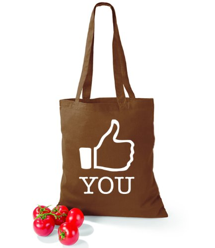 Artdiktat Baumwolltasche I like You Chestnut
