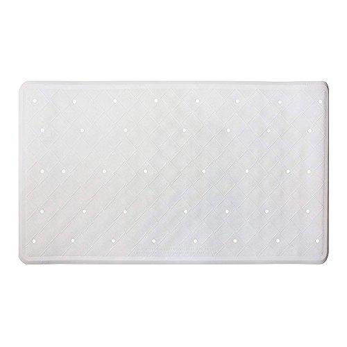 Badematte Anti-Rutsch-Anti-Schimmel-Gummi-Duschmatte 40 x 70 cm / 15,8 x 27,7 Zoll – Weiß