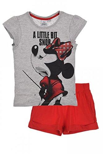 Minnie Mouse oficial Camiseta para niña juego de pantalón corto y partir de 3,4,6,8años