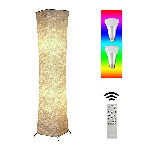 Gimify Moderne Stehleuchte LED Glühbirne für Wohnzimmer Dekoration 26x26x132cm (RGB)