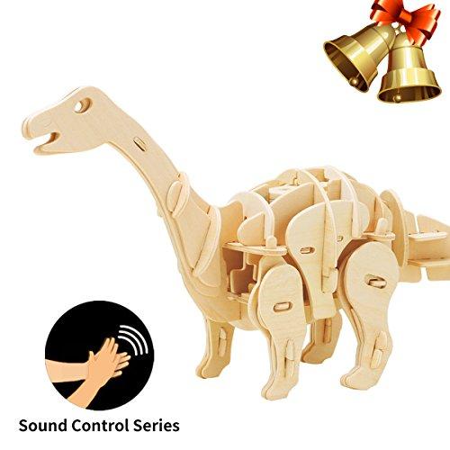 ROBOTIME Giocattolo Dinosauro per Bambini 6, 7, 8, 9 Anni e Oltre, Apatosauro Costruzione Artigianale – Puzzle 3D di Legno – Assemblare Modello Arte del Legno Costruzione Kit Compleanno Natale Regali per Adulti