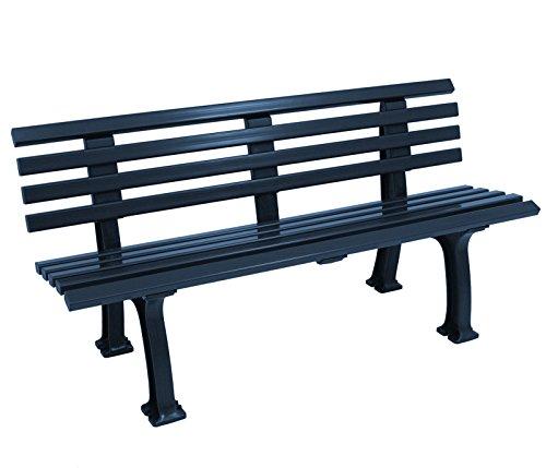 Wetterfeste Parkbank 3-sitzer, Kunststoff blau