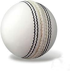 Raisco Leather Azone Cricket Ball (White)