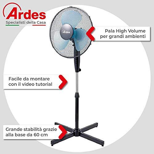 Zoom IMG-1 ardes ar5ea40p ventilatore piantana nero