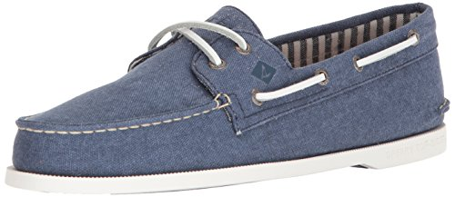 Sperry Top Sider - Scarpe Uomo A/O 2 Eye Washed Blu P/E 18 STS17376-309538 - 44.5