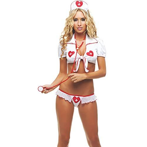 Xdiaomin Krankenschwester-Kostüm in Sexy Wäsche-Ausstattung Set Babydoll Schlafzimmer Flitterwochen Cosplay Krankenschwester - Krankenschwester Kostüm Ziel