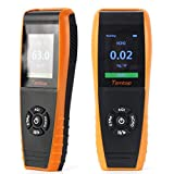 Air Quality Monitor LKC-1000E Indoor Air Quality Detector Professional Monitor Accurate Testing Formaldebyde with PM2.5/PM10/HCHO/AQI/Particles Air Quality Meter Time Display for Outdoor Detection