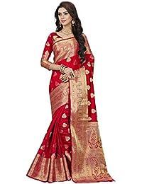 RAMAPIR FASHION Women'S Ethnic Wear Banarasi Silk Saree & JACQUARD WORK With Blouse Piece (Sarees For Women Party...