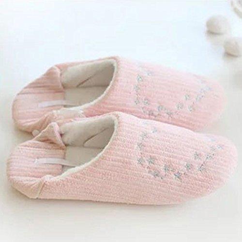 Eastlion Star Herz Ananas Muster warme Hausschuhe Indoor Startseite Slipper Rosa 2