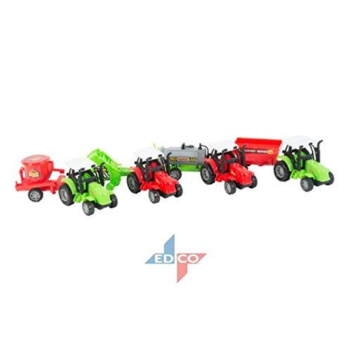 EWTG L 25cm Traktor Spielzeug Trekker Großer Schlepper Mit Agrar-Anhänger Kipper-Anhänger