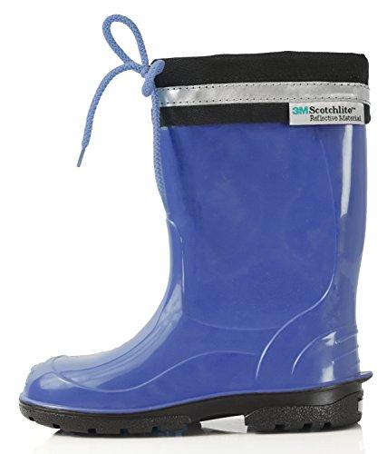 LEMIGO Kinder Gummistiefel Regenstiefel mit Stulpe KIM (35, blau)