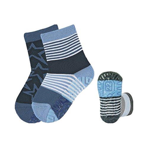 STERNTALER 2er-Pack ABS-Socken Fliesen Flitzer Air Sterne blau 23/ (Fashion Pack 2 Socken)