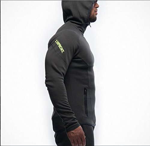 ZEARO Herren beiläufige hoodies fitness trainingsanzüge männer bodybuilding sweatshirt muscle mit kapuze jacken männer Hoodies 2