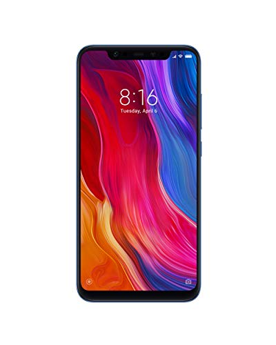Xiaomi Mi8 - 6GB RAM and 64GB Storage 6.21-Inch Android 8.1 UK Version SIM-Free Smartphone - Blue (Official UK Launch)