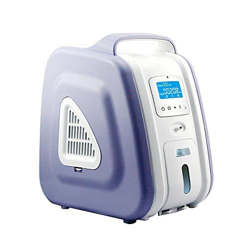 HUKOER Lila Sauerstoffkonzentrator für Haushalt 1-6 L/min Einstellbarer Sauerstoffkonzentrator Generator 93% ± 3% Hochreiner, tragbarer Luftreiniger Haushalt-Sauerstoffkonzentrator