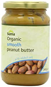 Suma Organic Smooth and Salty Peanut Butter 340 g (Pack of 6)