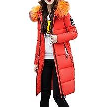 Mujer Invierno Casual Más Gruesa Abrigo Parkas Militar con Capucha Chaqueta de Acolchado Anorak Jacket Outwear