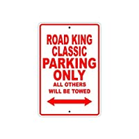 """St574ony Metal Sign 8""""X12"""" Harley Davidson Road King Classic Parking Only All Others Will Be Towed Motorcycle Bike Novelty Garage Prompt slogan Sign Plate"""
