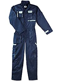 Combinaison de travail bicolore bleu marine & grise - Taille XL
