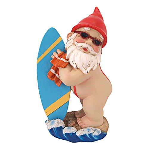 Gartenzwerg Statue - Shredder Surfer-Typ Gnome - Außengartenzwerge - Lustiges Rasen Gnome Statuen