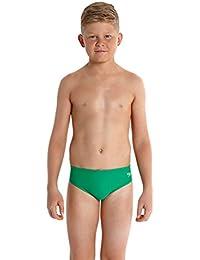 Speedo Essential Logo – Slip de baño para niño, Color Venin/Vert Fluo, tamaño 6 años (Talla del Fabricante: 6)