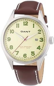GANT Herren-Armbanduhr XL Analog Quarz Leder W70461