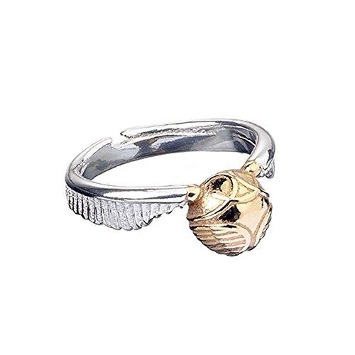 Harry Potter ufficiale Golden Snitch-Anello in argento Sterling, misura piccola
