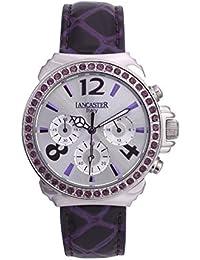 Lancaster 0633LZSSBNVL - Reloj de Señora cuarzo piel Violeta