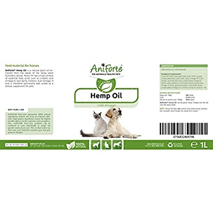 AniForte Organic Hemp Oil for Dogs & Cats 1L - Joint Supplement for Pets, Supports Immunity, Coat, Skin and Joint Pain… 2