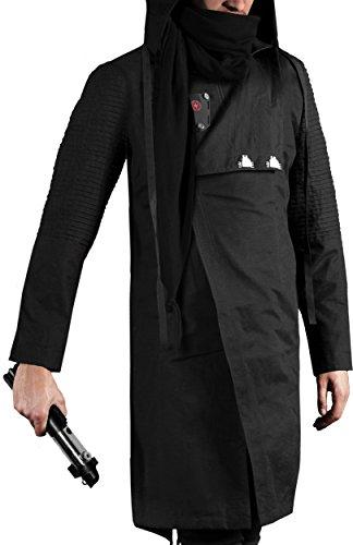 Musterbrand Star Wars Cappotto con cappuccio Uomo Sith Lord Limited Edition Giacca Nero L