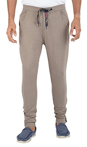 F-ITALIA Men's Hosiery Track Pant (9121_coffee--34, Light Brown, 34)