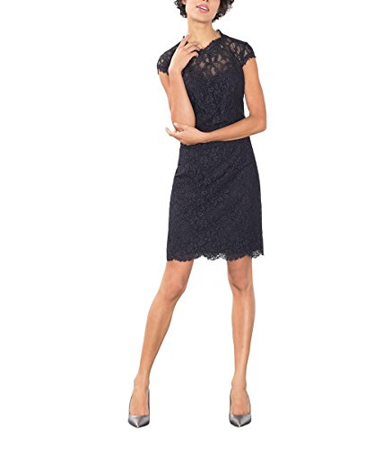 ESPRIT Collection Damen Kleid 126EO1E015, Blau (Navy 400), 38