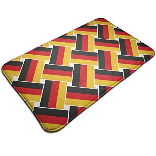 huibe Anti-Rutsch-Memory-Schaum Fußmatte Fußmatte Deutschland Flagge Repeat Home Decor Kinderzimmerteppich Eingangs-Teppich Maschinenwäsche Schnell trocknend Anti Müdigkeit Fußmatte (15,7 x 59,6 cm) -