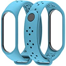 para Correa Xiaomi Mi Band 3 Smart Watch,Gusspower Banda de Reloj de Silicona Blanda