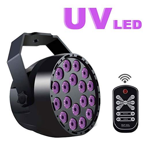 ter, LED-Bühnenlicht, 3 W X 18 LEDs, DMX 512 DJ-Spotlight-Sound Aktiviert, Für Weihnachten Halloween-Parties Bühne KTV Bar Club ()