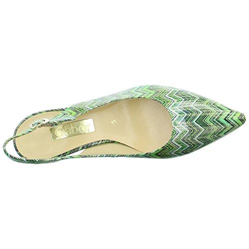 Gabor Slingpumps Größe 5, Farbe: grün -