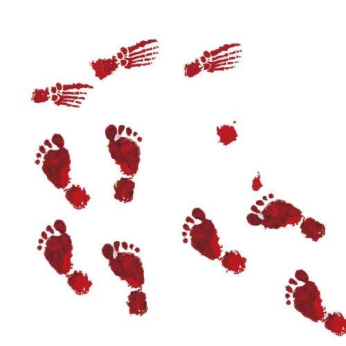 ody Footprints Boden Haftet Halloween Vampire Zombie Party Boden Wand Fenster Dekor Poster 23X35Cmx4Pcs ()