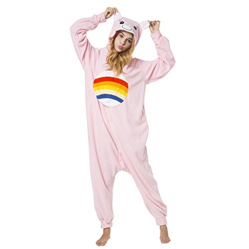 Imagen de katara 1744  kigurumi pijama disfraz de animal traje de dormir para adultos unisex  cosplay, carnaval o halloween  oso amoroso alegrosita rosa con capucha  l