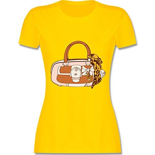 Typisch Frauen - Handtasche - tailliertes Premium T-Shirt mit Rundhalsausschnitt für Damen Gelb