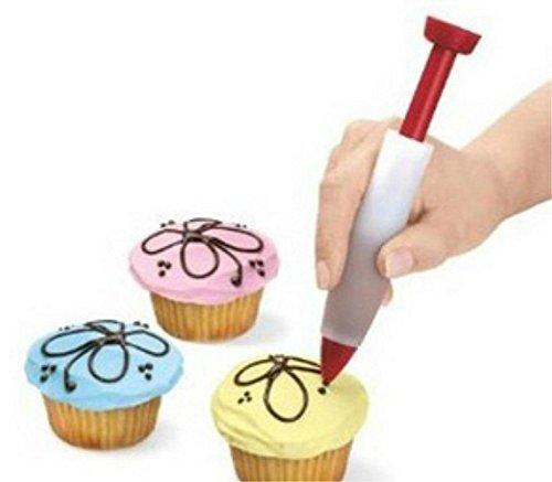 HENGSONG Silikon Sahne Schokolade Dekorieren Spritze, Kuchen Dekorationsstift Keks Plätzchen Gebäck Zuckerguss Dekorieren Pen Cake Cookie Food Deko-Stift