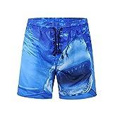 Pantaloncini da Spiaggia Uomo LandFox beach shorts mens pantaloni da spiaggia sport moda traspirante pantaloni estate fitness pantaloni da corsa Estate Sport Shorts Stampato squalo