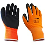 SCAN Orange Mousse Latex Coated Glove 13 g XL